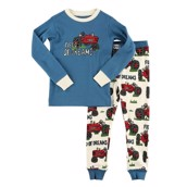 LazyOne Boys Field of Dreams Kids PJ Set Long Sleeve