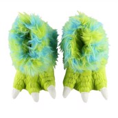 LazyOne Unisex Green Monster Paw Slipper