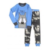 Howl of a Night Wolf, Boys Long Sleeve Pyjamas Set