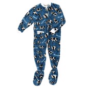 LazyOne Unisex Mooody in the Morning Footie Onesie Child