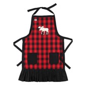 LazyOne Female Moose Plaid Apron