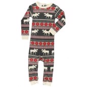 LazyOne Boys Moose Fair Isle Infant Sleepsuit