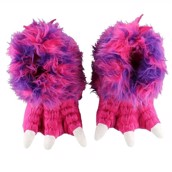 LazyOne Unisex Pink Monster Paw Slipper