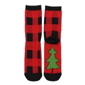 LazyOne Unisex Plaid Adult Crew Socks