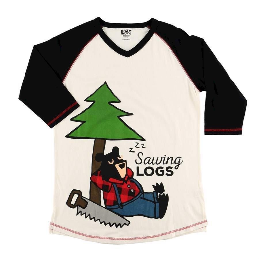 Billede af LazyOne, Sawing Logs Pyjamas Shirt Long, Adult XL