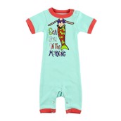 LazyOne Sea You in the Morning Infant PJ Rompers