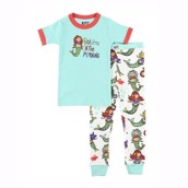 LazyOne Girls Sea You in the Morning Kids PJ Set Short Sleeve