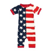 LazyOne Stars and Stipes Infant PJ Rompers