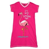 LazyOne Womens Flamingo Looong Day Nightshirt V Neck