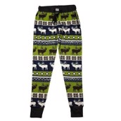 LazyOne Womens Elk Fair Isle PJ Leggings